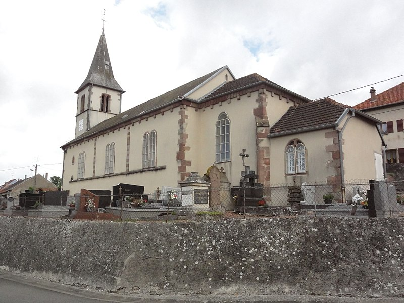 Oberstinzel (Moselle) église churches in Moselle