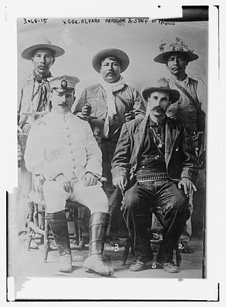 Yaqui - Gen. Obregón and staff of Yaqui, c. 1910