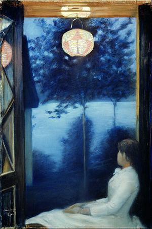 Oda Krohg - Debut work By the Oslofjord (Japanese lantern), 1886