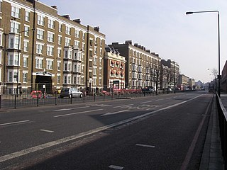 road in South East London, England