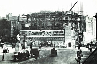 Victoria Square House - The Head Post Office under construction in 1890.
