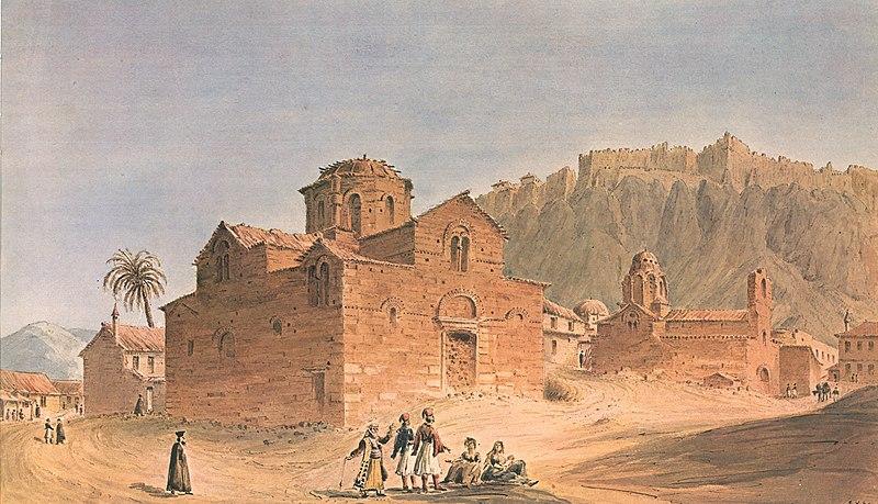 Old churches Athens %E2%80%93 28 June 1838 %E2%80%93 Skene James - 1838