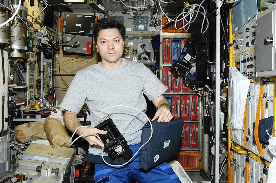 Oleg Kononenko in the Zvezda Module