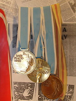 Olympic medals Anatoly Alyabyev.jpg