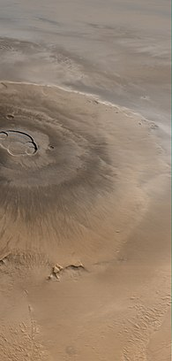 Mars Global Surveyor image of Olympus Mons