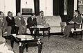 Omar Elwary the Mayor of Jerusalem visiting King Hussein of Jordan along with the Municipality staff in 1955 (2)..jpg
