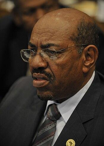 English: Omar Hassan Ahmad al-Bashir, presiden...