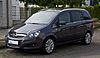 Opel Zafira (B, Facelift) – Frontansicht, 7. September 2013, Münster.jpg