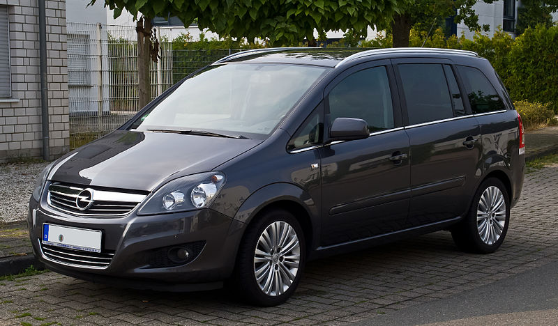datei opel zafira b facelift frontansicht 7. Black Bedroom Furniture Sets. Home Design Ideas