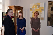 Opening of the exhibition «Adam Hlobus. Belarusian avant-garde of the 80-th» 24.03.2015 02.JPG