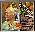 Orange crate label, Victoria Brand, Schmidt Litho. Co . (16117119443).jpg