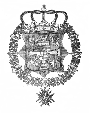 Order of the White Eagle (Poland) - Royal Star of Order of the White Eagle of Augustus II the Strong before 1730