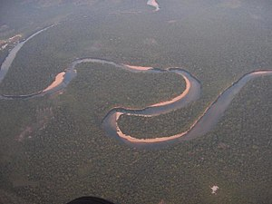 The Orinoco River, here in Amazonas State, Ven...