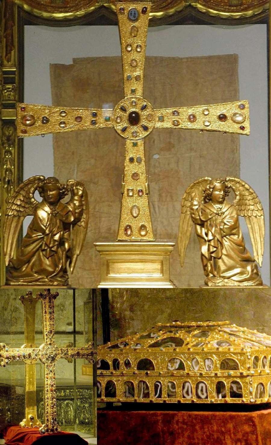 Tesouro da Cámara Santa da Catedral: Cruz dos Anxos, Cruz da Victoria e Caixa das Ágatas