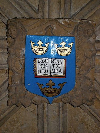 Psalm 27 - CoA at Oxford University with first verse of Psalm 27.