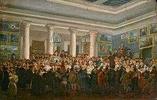 eb10411bbcd199 Vente aux enchères de tableaux, à l hôtel Bullion, peinture de Demachy  (avant 1807).