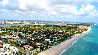 Palm Beach, Florida - Aerial photograph of Palm Beach proper