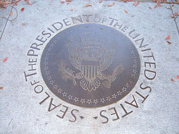 Plaque of the Seal of the President of the Uni...