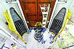 PSLV C43 HySIS launch campaign payloads before encapsulation.jpg
