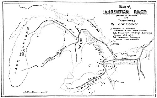 PSM V49 D175 Map of ancient st lawrence river and tributaries.jpg