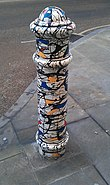 Painted Bollard, Winchester 04