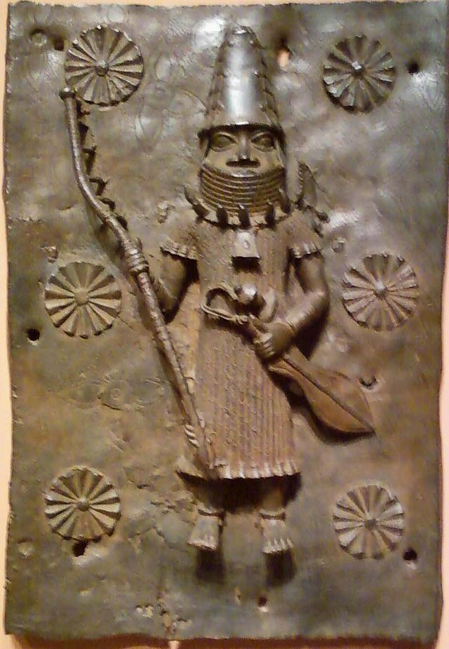 Palace plaque depicting warrior by Edo culture.jpg