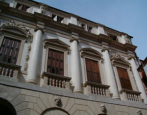 Palazzo Porto, Vicenza - Detail of the facade