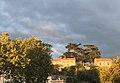 Pamiers, soleil couchant sur le cimetière.jpg