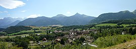 A panorama of Saint-Maurice-en-Trièves
