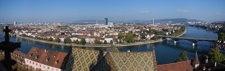 أجازتك هذه السنه ستكون بثالث أكبر مدينه بسويسرا وعروض فنادق سويسرا،فنادق بازل 750px-Panorama_basel