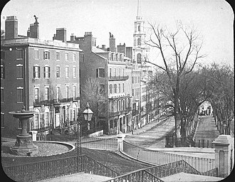 Park Street, Boston - Image: Park St ca 1860 Boston LOC210034v
