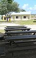 Park tables with demountable buildings - State House immigration processing compound, Nauru.jpg