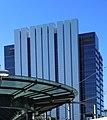 Parramatta railway station with Sydney Water building behind (cropped).jpg
