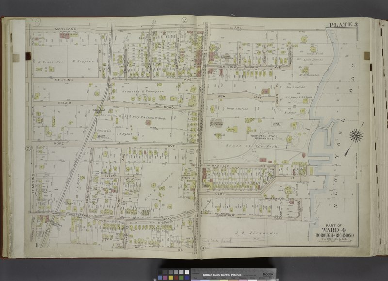 File:Part of Ward 4. (Map bound by Maryland Ave, New York Bay, Harbor View Place, Bay St (New York Ave), High St, Summer St, Fingerboard Road, Tompkins Ave) NYPL1646270.tiff