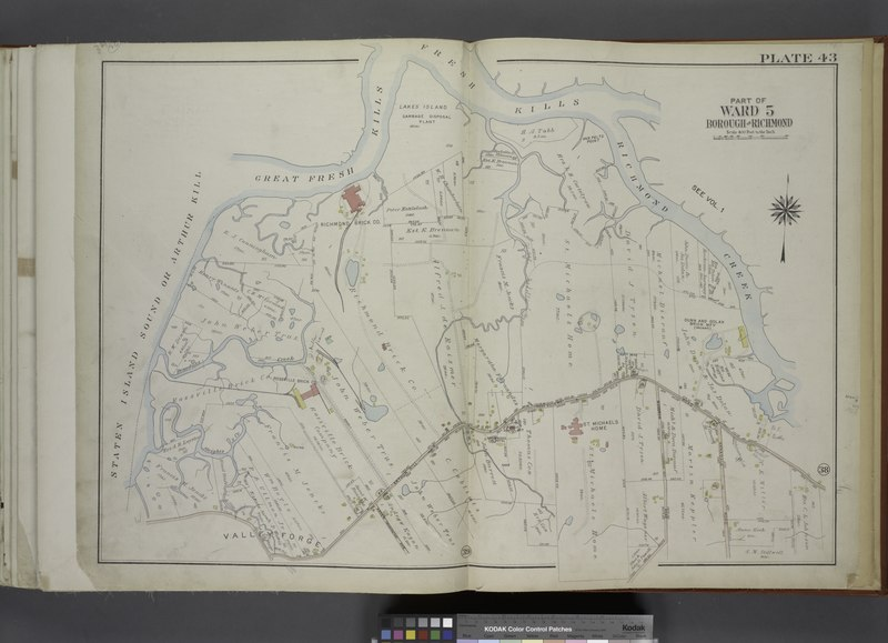 File:Part of Ward 5. (Map bound by Great Fresh Kills, Fresh Kills, Richmond Creek, Arthur Kill Road, Annadale Road, Woodrow Road (Journeay Ave), Arden Ave (Washington), Steights Creek, Staten NYPL1646310.tiff