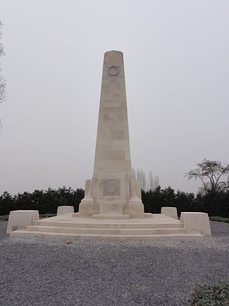 New Zealand Division - The New Zealand Memorial at Passchendaele, in Belgium