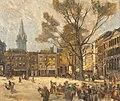 Paul Emil Gabel Reges Treiben auf dem Marktplatz 1923.jpg