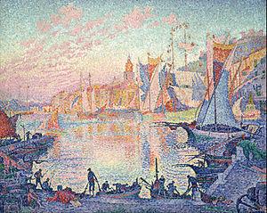 Paul Signac - The Port of Saint-Tropez - Google Art Project