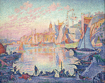 Paul Signac, The Port of Saint-Tropez, oil on canvas, 1901 Paul Signac - The Port of Saint-Tropez - Google Art Project.jpg