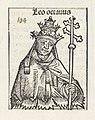 Paus Leo VIII Leo octavus (titel op object) Liber Chronicarum (serietitel), RP-P-2016-49-65-8.jpg