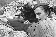 1783 WW2 WWII Photo Russian Female Sniper Lyudmila Pavlichenko World War Two