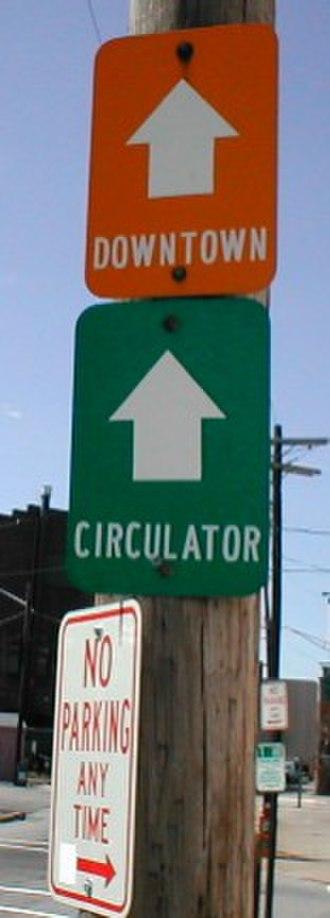 Pawtucket, Rhode Island - Image: Pawtucket Circulator sign