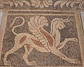 Pebble mosaic floor depicting a griffin, from Ancient Sikyon, second half of 4th century BC, Archaeological Museum of Sikyon, Greece (13945615149).jpg