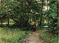 Peder Mork Monsted Painting off a Path Near a River.jpg
