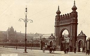 Peel Park, Salford - Victoria Arch circa 1905