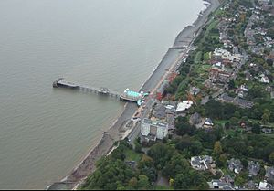 Penarth Pier - An aerial photograph of the pier in 2006
