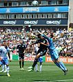 Perkins collides with Wondolowski in San Jose 2013-05-04.jpg