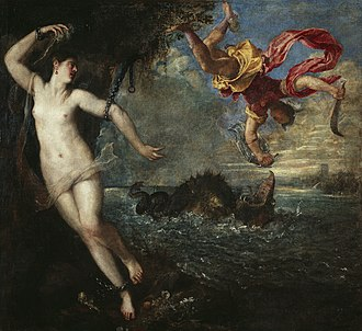 Andromeda Chained to the Rocks - Image: Perseo y Andrómeda, por Tiziano