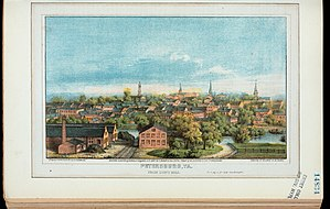 Petersburg, Virginia - Petersburg, Va., from Duns Hill, c. 1880.