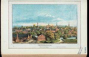 Petersburg, Virginia - Petersburg, Va., from Duns Hill, c. 1880.
